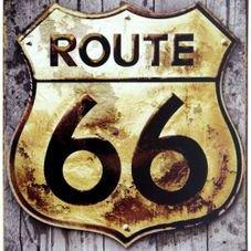 placa de pvc route 66