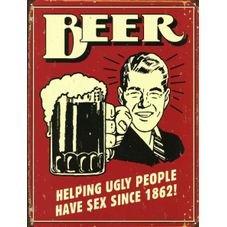 placa pvc beer