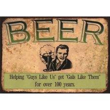 placa pvc beer 100 years
