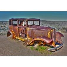 placa pvc carro antigo ferrugem