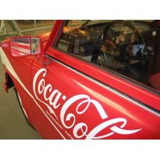 placa pvc carro coca cola