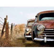 placa pvc carro velho