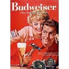 placa pvc cerveja budweiser