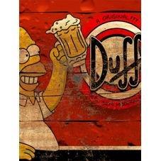 placa pvc cerveja duff