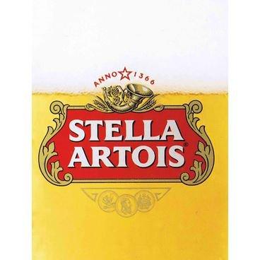placa pvc cerveja stella