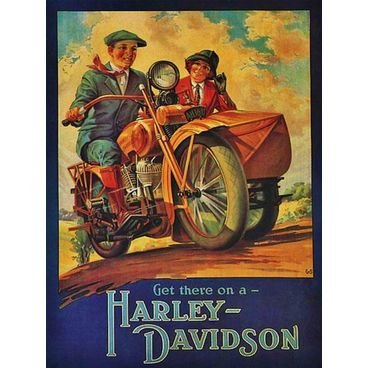 placa pvc harley davidson 01
