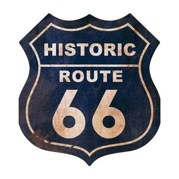 placa pvc hitoric route 66