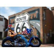 placa pvc moto route 66