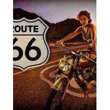 placa pvc route 66 01