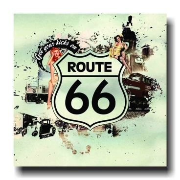 placa pvc route 66 get you