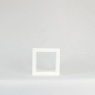 nicho decorativo quadrado branco 15cm em madeira macica para quarto sala escritorio