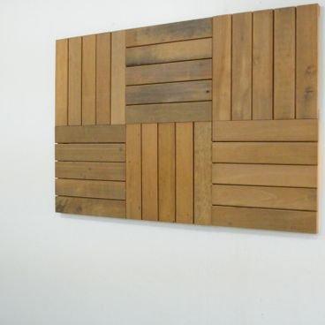 kit painel decorativo em madeira itauba