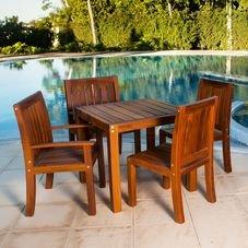 mesa rohden 4 lugares angelim cadeiras moveis jardim piscina