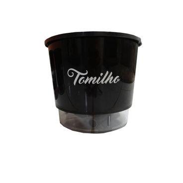 vaso raiz autoirrigavel preto gourmet tomilho agromania