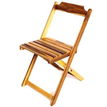 cadeira madeira dobravel rohden  teca