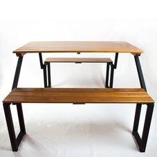 detalhe banco mesa madeira rohden itauba
