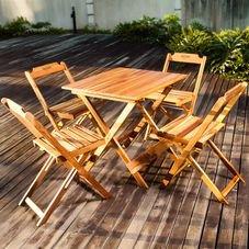 jogo mesa cadeira dobravel