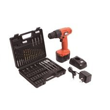 kit parafusadeira furadeira bateria 12v black decker 50 pecas kit