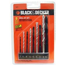 conjunto brocas 9pcs black decker
