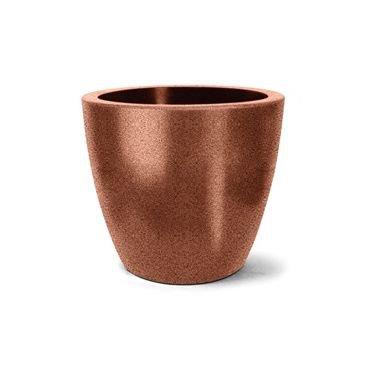 vaso plastico redondo classic ferrugem 33