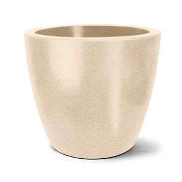 vaso plastico redondo classic areia 62