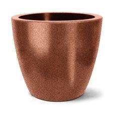 vaso plastico redondo classic ferrugem 62