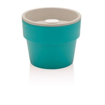 vaso auto irrigavel pequeno azul ou