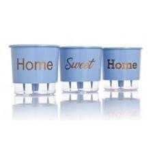 vaso autoirrigavel home sweet home azul