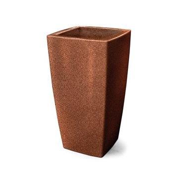 vaso plastico trapezio ferrugem 45