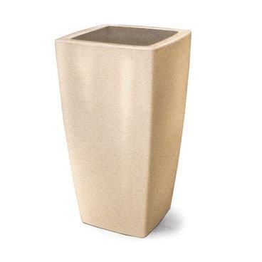 vaso plastico trapezio areia 65