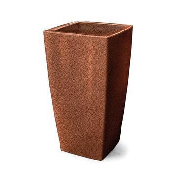 vaso plastico trapezio ferrugem 65