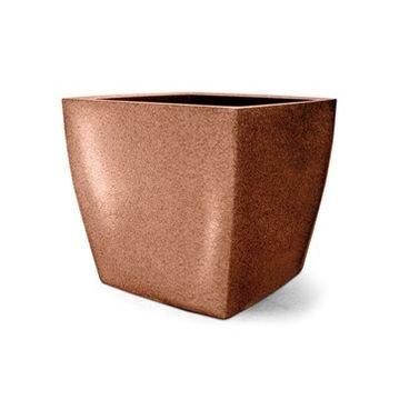vaso plastico quadrado ferrugem 32