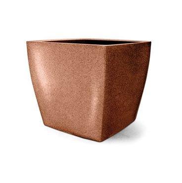 vaso plastico quadrado ferrugem 40
