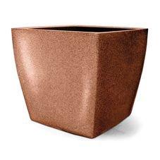 vaso plastico quadrado ferrugem 50