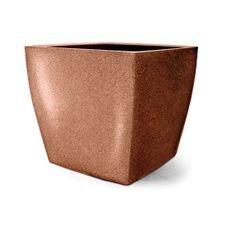 vaso plastico quadrado ferrugem 60
