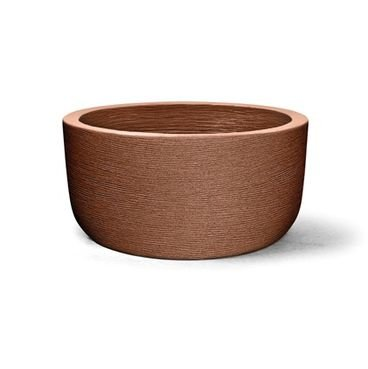 vaso plastico grafiato redondo ferrugem 22
