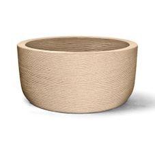 vaso plastico grafiato redondo areia 30