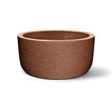 vaso plastico grafiato redondo ferrugem 30