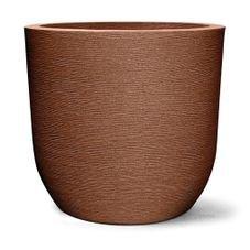 vaso plastico grafiato redondo ferrugem 67