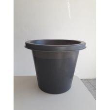 vaso rustico cinza horta verde