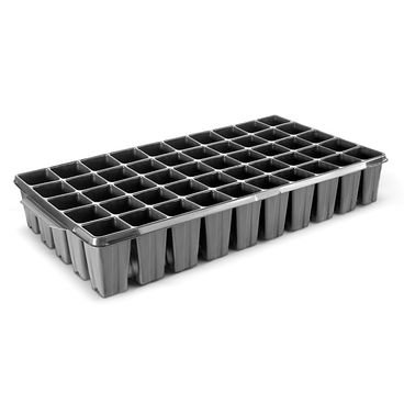 bandeja 50 celulas quadrada preto