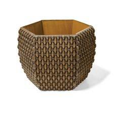 vaso cachepo hexagonal 15 envelhecido nutriplan