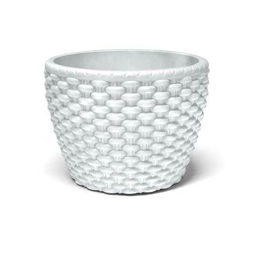 vaso cachepo oval branco nutriplan