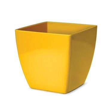 vaso cachepo elegance nutripla quadrado amarelo