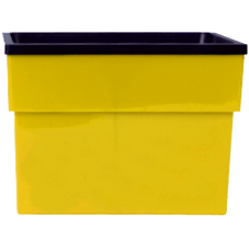 vaso anti dengue grande amarelo
