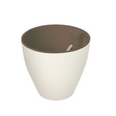 vaso autoirrigavel platie branco marrom