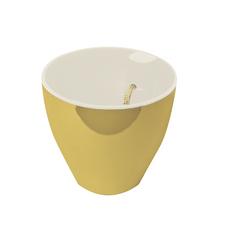 vaso autoirrigavel platie dourado branco