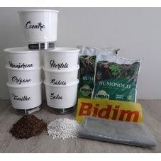 kit raiz 7 vasos branco gourmet premium