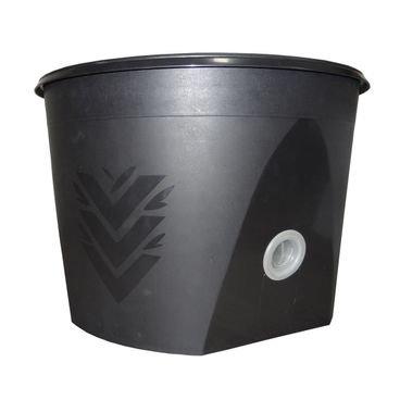 vaso acqua grande preto autoirrigavel