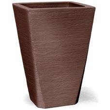 vaso grafiato trapezio tabaco
